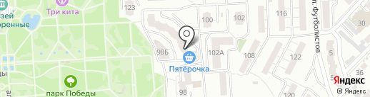 Парк победы на карте Самары