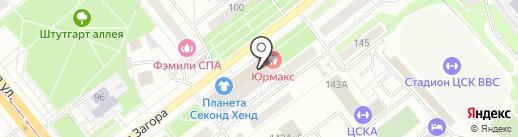 Точилка на карте Самары