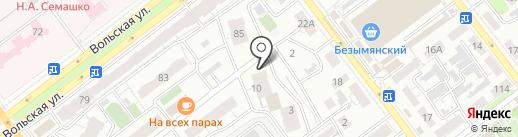 Самарская Молодежная Автомобильная Гимназия, НЧОУ на карте Самары
