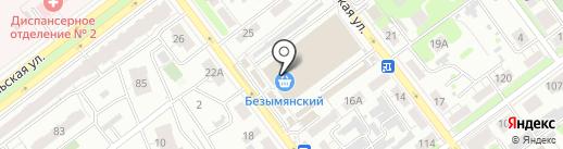 Магазин молочных продуктов на карте Самары