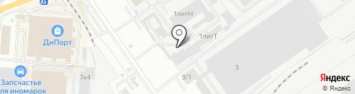 Первый Стекольный на карте Самары
