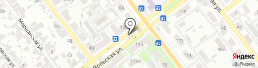 Автомойка на Вольской на карте Самары