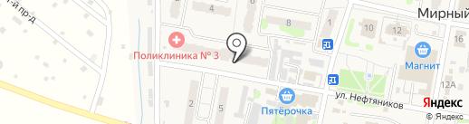 Банкомат, Всероссийский банк развития регионов на карте Мирного