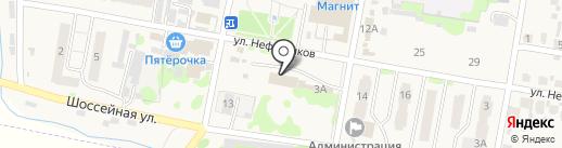 Волга на карте Мирного