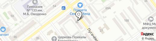 Кнопка на карте Самары