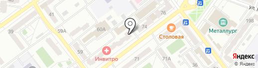 Милана на карте Самары