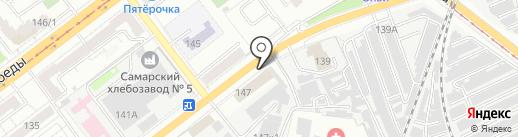 Авангард на карте Самары