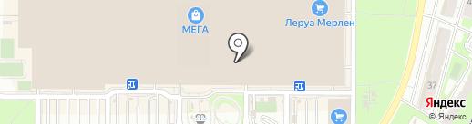 Метелица на карте Самары
