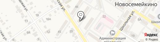 Магазин стройматериалов на карте Новосемейкино