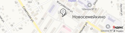 Бюро ритуальных услуг на карте Новосемейкино