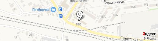 Киоск по продаже мясной продукции и полуфабрикатов на карте Новосемейкино