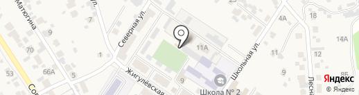 Акрон на карте Новосемейкино