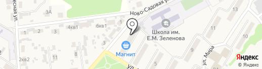 Магазин продуктов на карте Новосемейкино