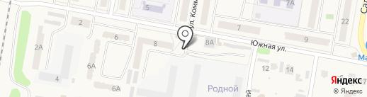 Автостоянка на Южной на карте Петры Дубравы