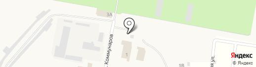 Автостоянка на ул. Коммунаров на карте Петры Дубравы