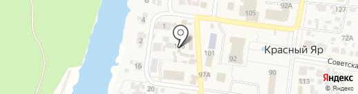 Шмель на карте Красного Яра