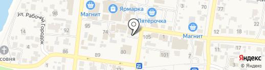 Мастерская по ремонту сотовых телефонов на карте Красного Яра