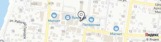Грош на карте Красного Яра