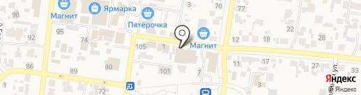 Ермолино на карте Красного Яра