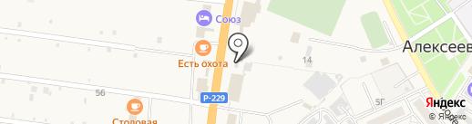 Автотрасс на карте Алексеевки