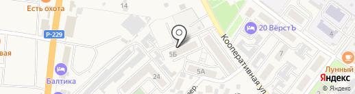 На Северной на карте Алексеевки
