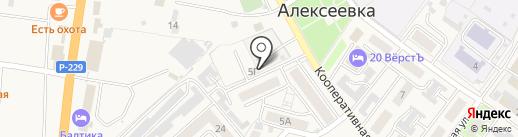Автостоянка на карте Алексеевки