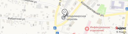 Церковь в честь Владимирской иконы Божией Матери на карте Алексеевки