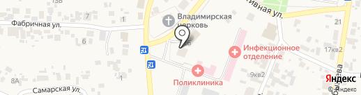 Янтарь на карте Алексеевки