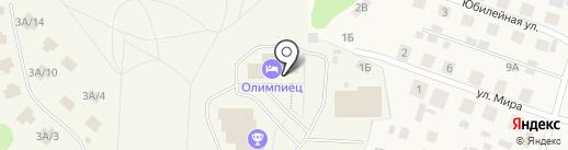 Олимпиец на карте Выльгорта