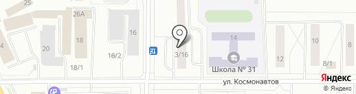 Матэ на карте Сыктывкара