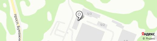 Звезда Трак Коми на карте Сыктывкара