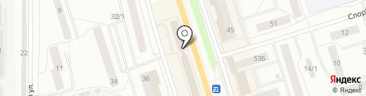 Жасмин на карте Сыктывкара