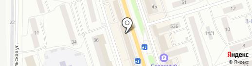 Эжвинский Гостиный Двор на карте Сыктывкара