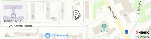 Баня №6 на карте Сыктывкара