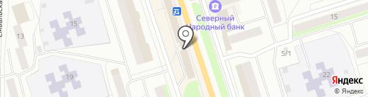 Мебельер на карте Сыктывкара