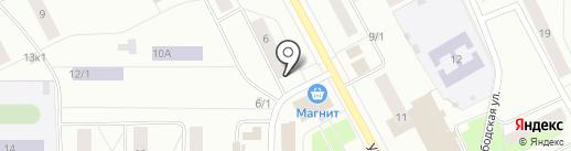 Зеленецкая на карте Сыктывкара