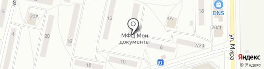 Общественное питание, МУП на карте Сыктывкара