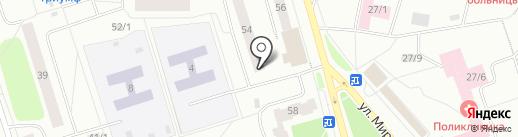 Аполлония на карте Сыктывкара