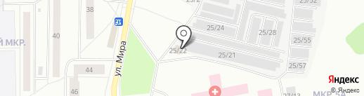 Магазин автозапчастей на карте Сыктывкара