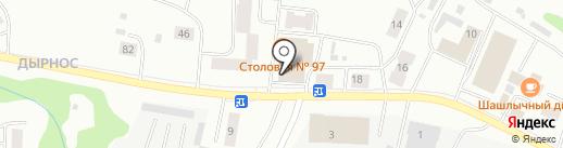 Автопорт на карте Сыктывкара