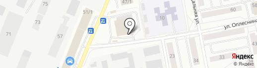 Роса на карте Сыктывкара