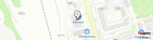 Молодёжный на карте Сыктывкара