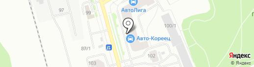Вятич на карте Сыктывкара