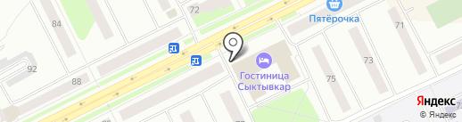 Формула SPA на карте Сыктывкара