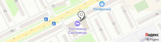 Лесная Новь на карте Сыктывкара