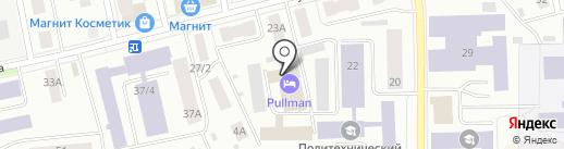 Дверона на карте Сыктывкара