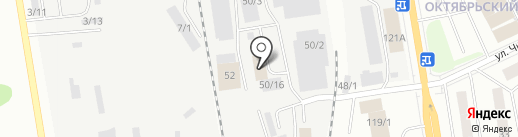Юнел на карте Сыктывкара