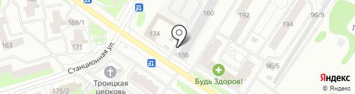 Тоска зелёная на карте Сыктывкара