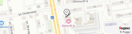 Сыктывкарский банно-прачечный трест, МУП на карте Сыктывкара