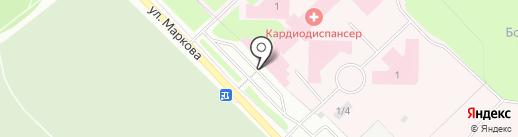Кардиологический диспансер на карте Сыктывкара